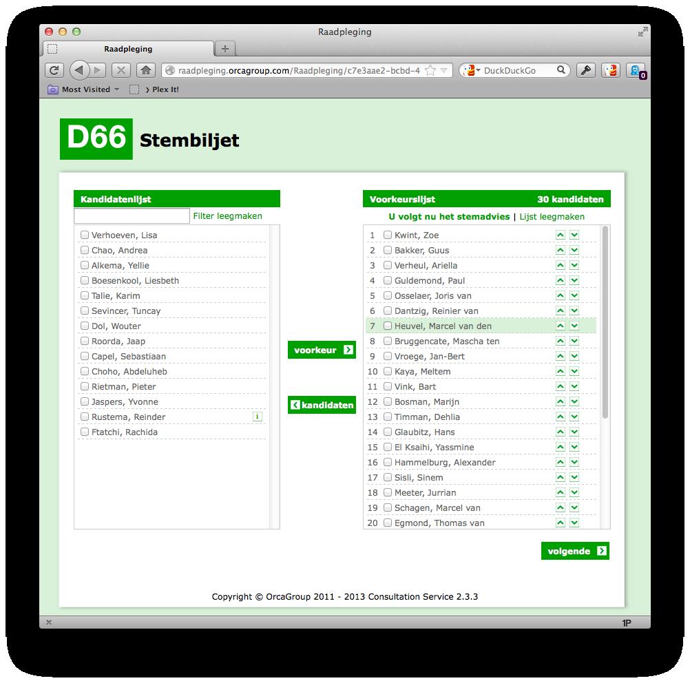 D66-stembiljet